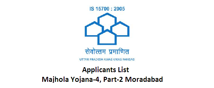 UPAVP Announced Applicants List for Majhola Yojana-4, Part-2 Moradabad